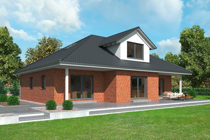 Gussek haus bungalows landh user fertigh user for Optimaler grundriss einfamilienhaus