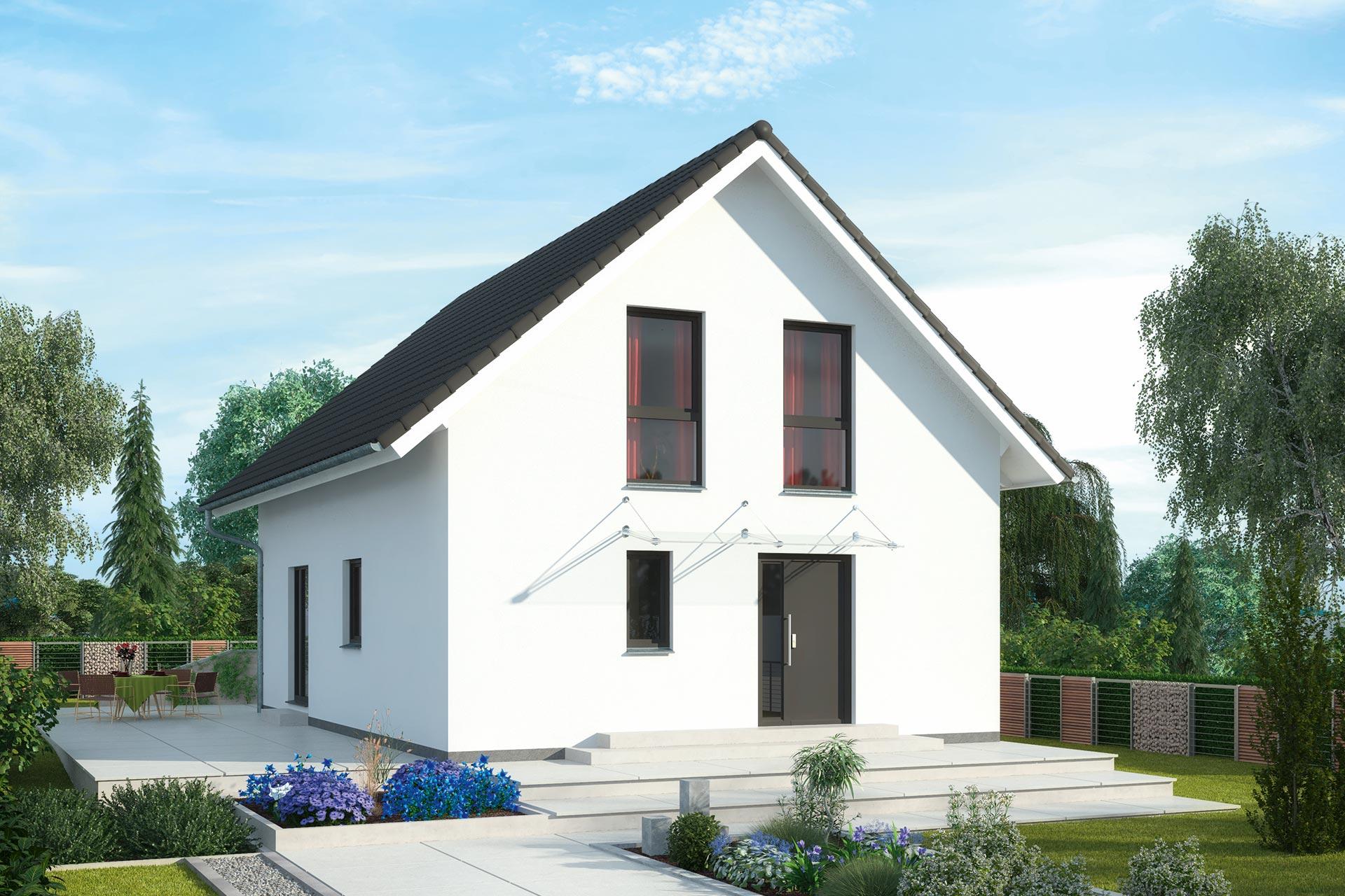 Einfamilienhaus günstig bauen - Akazienallee - idealer Grundriss für ...