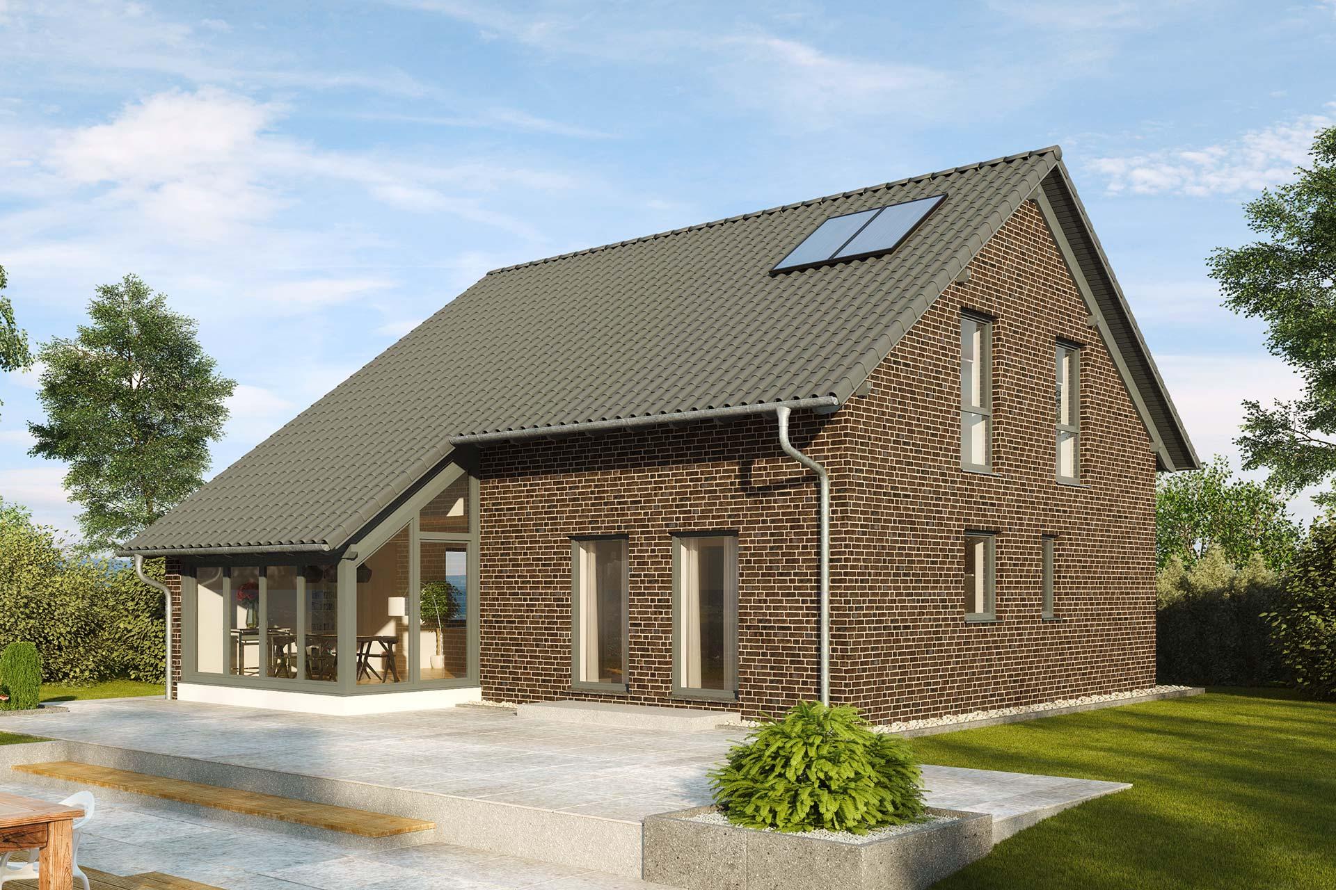Einfamilienhaus guenstig bauen - Buchenallee Variante 2 - mit ...