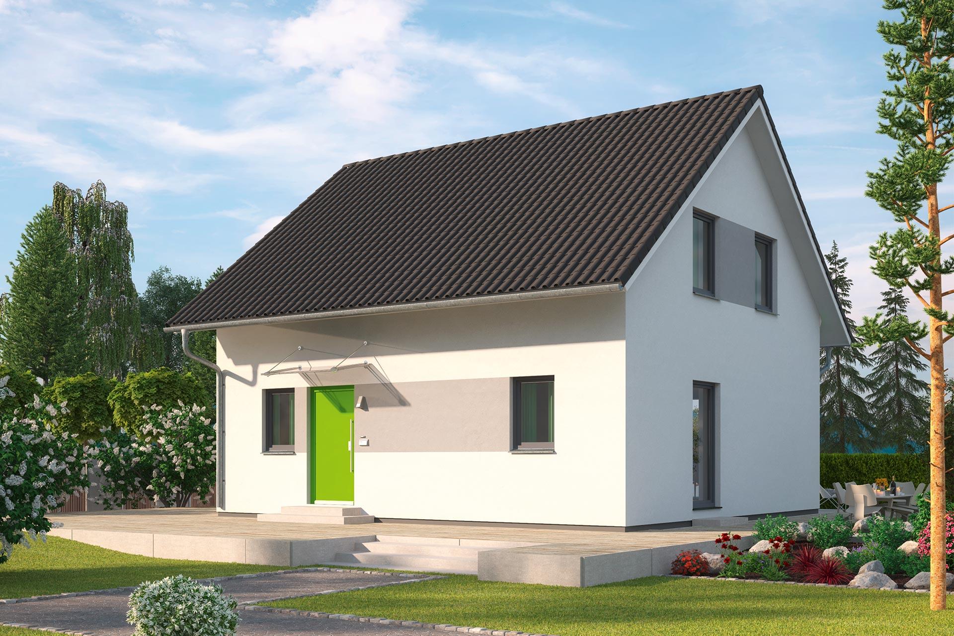 Einfamilienhaus günstig bauen - Fliederallee - ein Haus mit ...