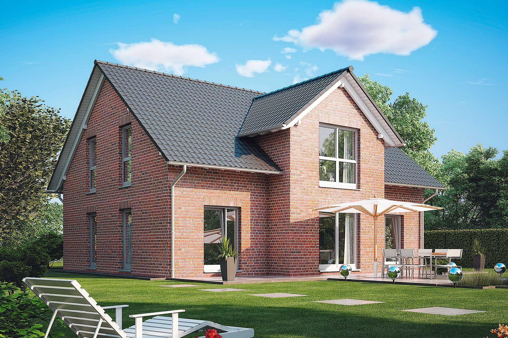 Einfamilienhaus - Kiefernallee - exklusiver Entwurf mit 3. Giebel ...