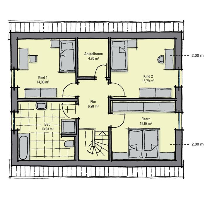 einfamilienhaus guenstig bauen magnolienallee moderne optik minimale dach berst nde gussek. Black Bedroom Furniture Sets. Home Design Ideas