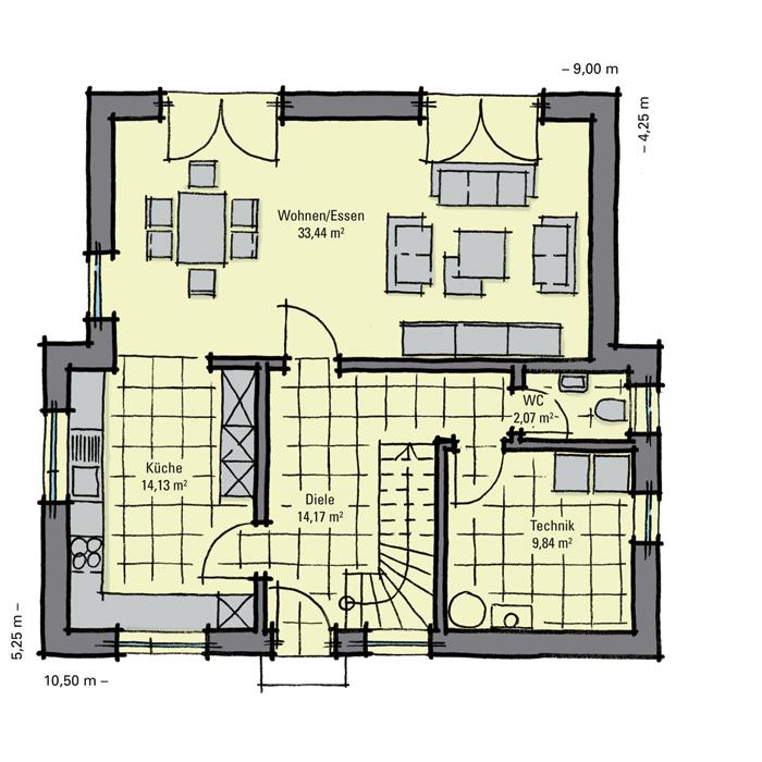 einfamilienhaus guenstig bauen nussbaumallee versetzte bauk rper mit pultd chern gussek haus. Black Bedroom Furniture Sets. Home Design Ideas