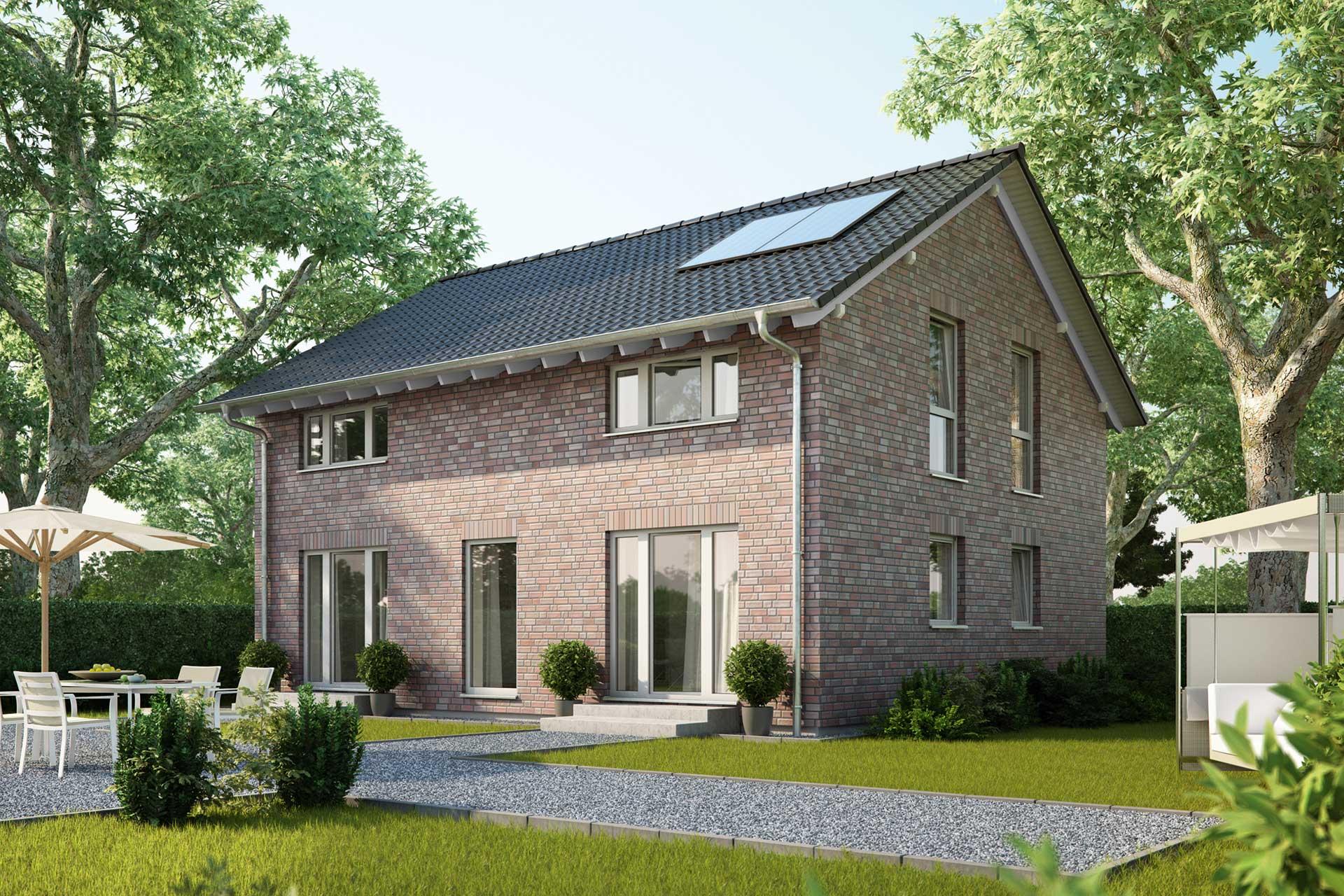 einfamilienhaus guenstig bauen - platanenallee - dominante
