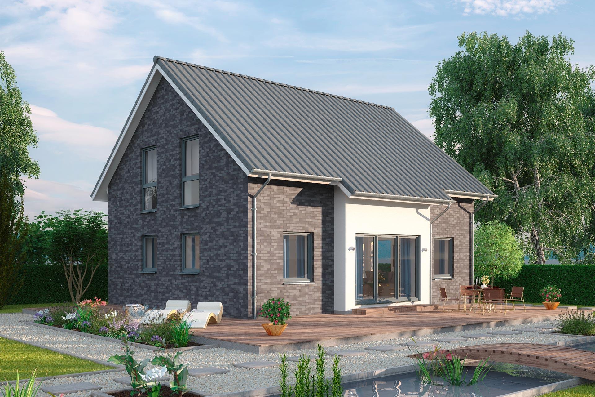 Einfamilienhaus guenstig bauen - Ulmenallee V1 - offener ...