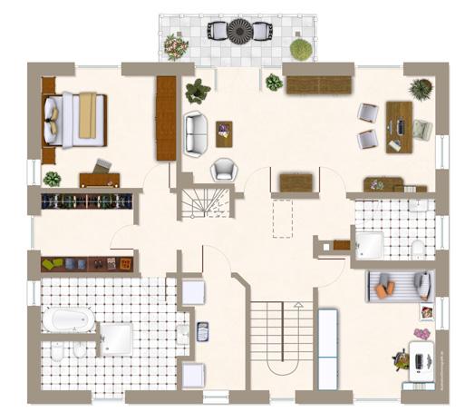 Einfamilienhaus bredeney ein fertighaus von gussek haus for Optimaler grundriss einfamilienhaus