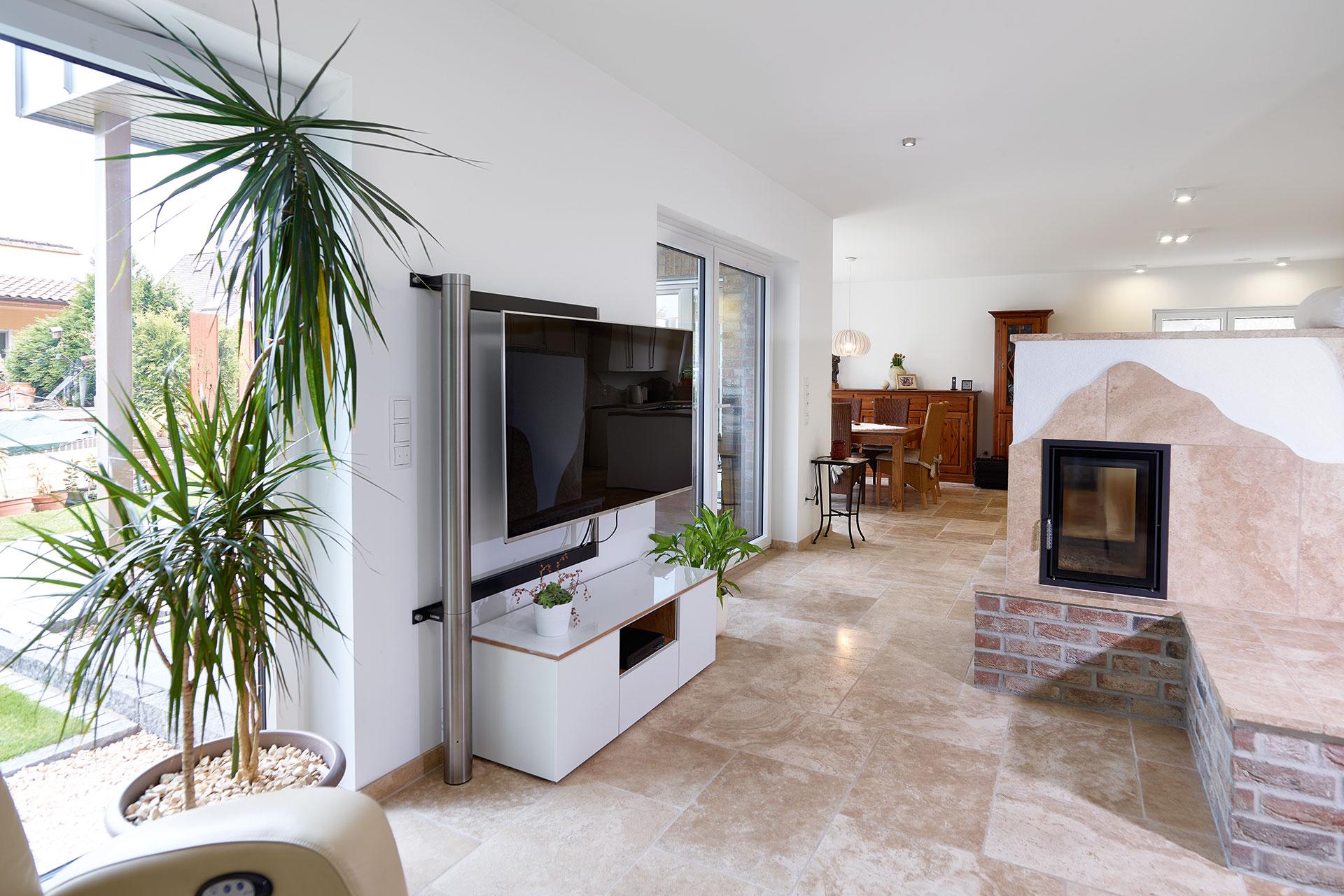 Einfamilienhaus mit flexibel geplantem Grundriss und einem ...