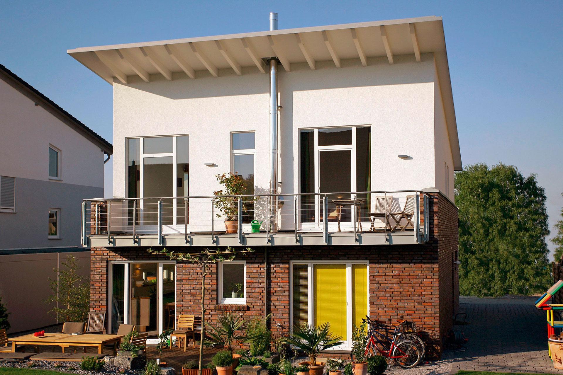 fertighaus mit pultdach und individueller. Black Bedroom Furniture Sets. Home Design Ideas