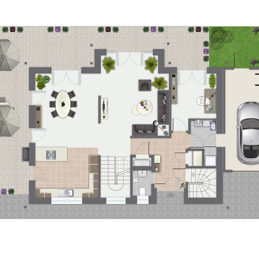 Energieeffizientes einfamilienhaus individuell geplant for Fertighaus grundrisse einfamilienhaus