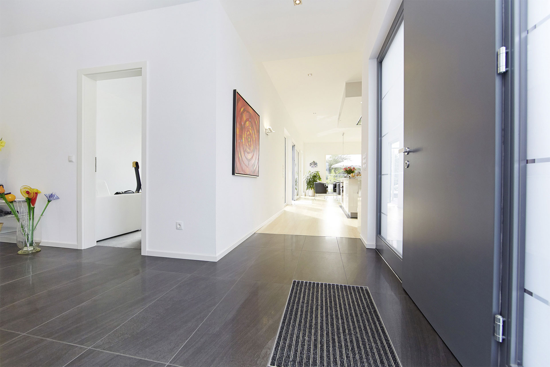 Fertighaus bungalow algarve 182 ein fertighaus von for Eingangsbereich haus modern