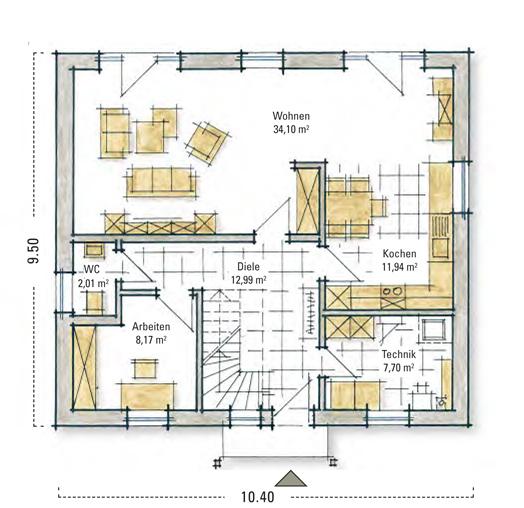 g nstig bauen hockstein ein fertighaus von gussek haus. Black Bedroom Furniture Sets. Home Design Ideas