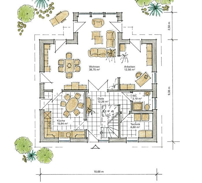Luxushaus dahlem ein fertighaus von gussek haus for Grundriss luxushaus