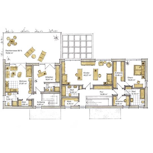 Luxushaus lichtental ein fertighaus von gussek haus for Zweifamilien bungalow grundriss