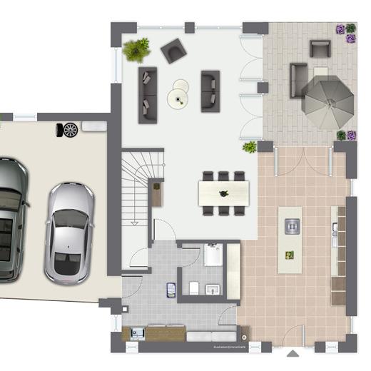 Luxushaus ravensberg ein fertighaus von gussek haus for Grundriss luxushaus