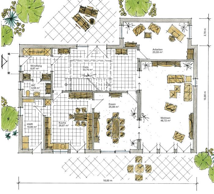 Luxushaus karlshof ein fertighaus von gussek haus for Grundriss luxushaus