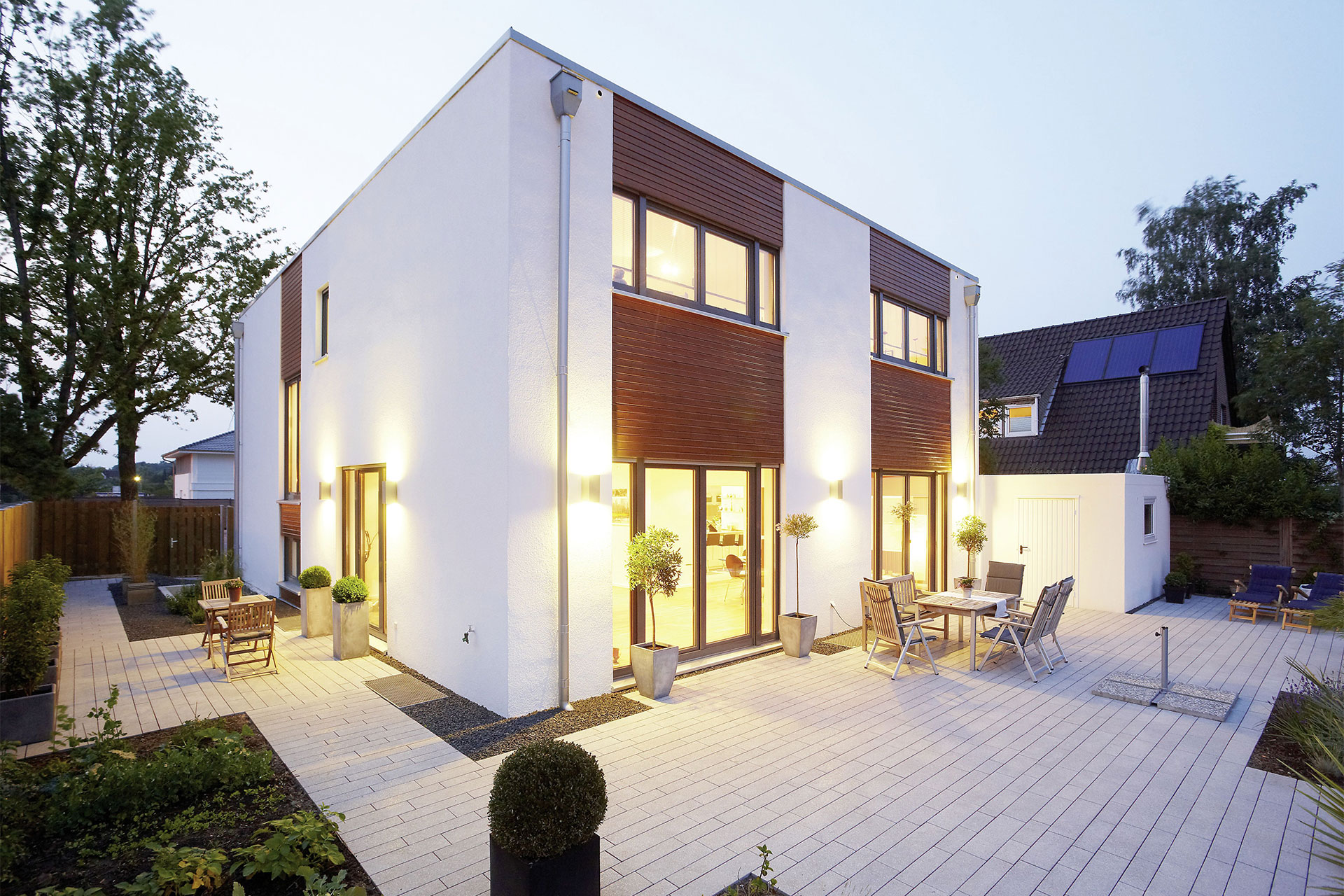 Wunderbar Haus Mit Flachdach Foto Von Lido