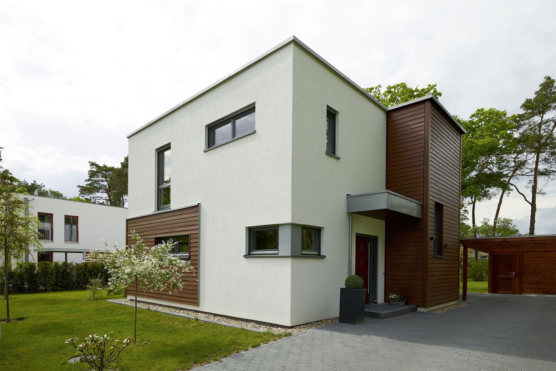 Fertighaus flachdach modell stella ein fertighaus von for Musterhaus flachdach