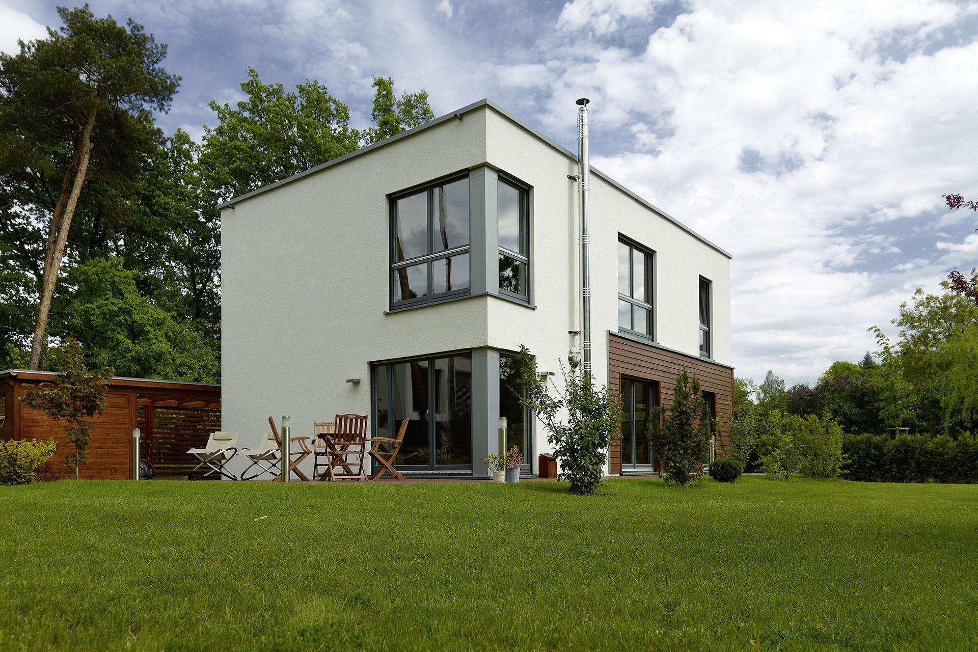 fertighaus flachdach modell stella ein fertighaus von gussek haus. Black Bedroom Furniture Sets. Home Design Ideas