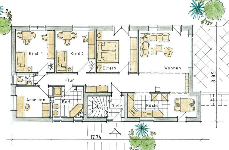 Ma geschneidert bauen zweigenarationenhaus vicaria ein for Zweifamilienhaus grundriss