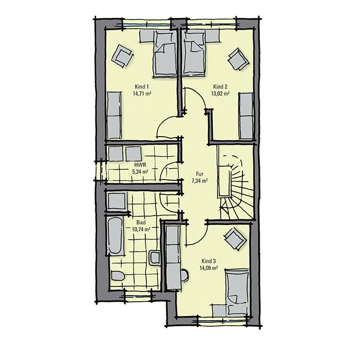 doppelhaus mit 3 etagen penthouse etage mit. Black Bedroom Furniture Sets. Home Design Ideas