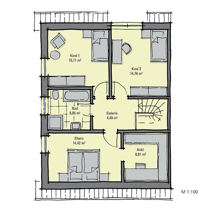 fertighaus doppelhaus mit zwei wohneinheiten gussek haus. Black Bedroom Furniture Sets. Home Design Ideas
