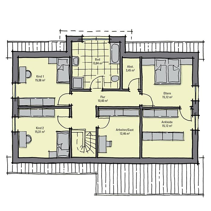 grundriss bungalow mit ankleidezimmer verschiedene ideen f r die raumgestaltung. Black Bedroom Furniture Sets. Home Design Ideas