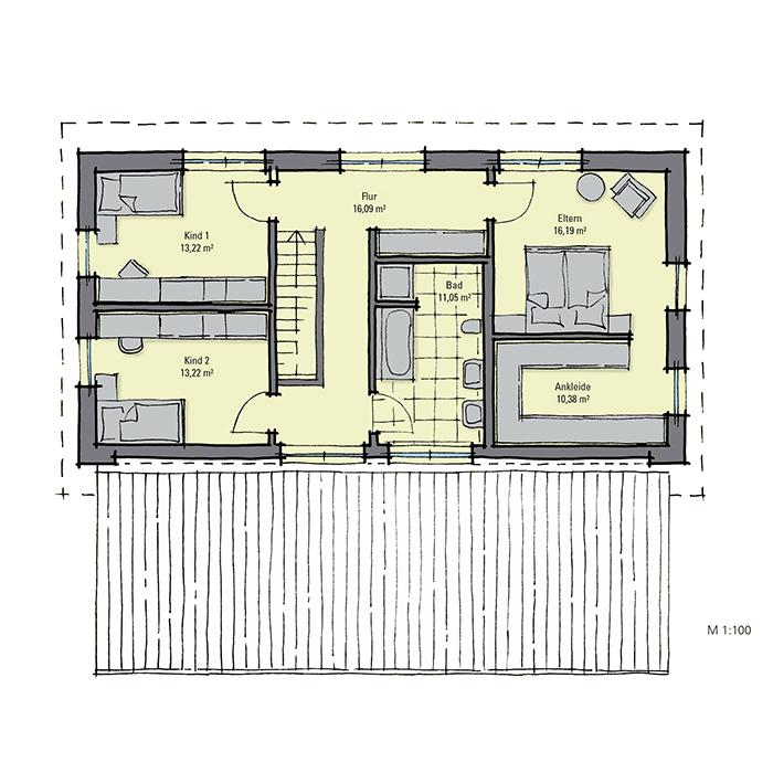 fertighaus mit einliegerwohnung gussek haus. Black Bedroom Furniture Sets. Home Design Ideas