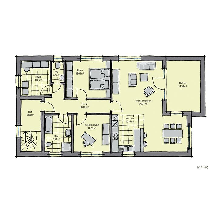Luxuri ses zweifamilienhaus in bauhaus optik gussek haus for Zweifamilienhaus grundriss fertighaus
