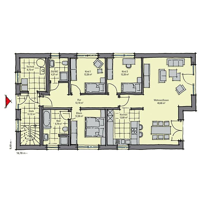luxuri ses zweifamilienhaus in bauhaus optik gussek haus. Black Bedroom Furniture Sets. Home Design Ideas