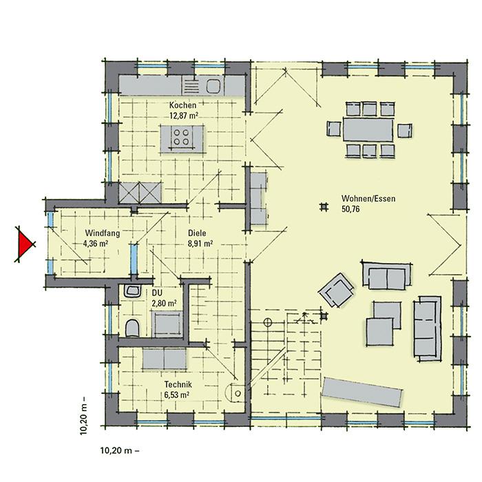 musterhaus aida nordhorn ein fertighaus von gussek haus. Black Bedroom Furniture Sets. Home Design Ideas