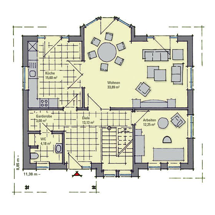 Musterhaus grundriss  GUSSEK HAUS - Carlotta (Falkensee)