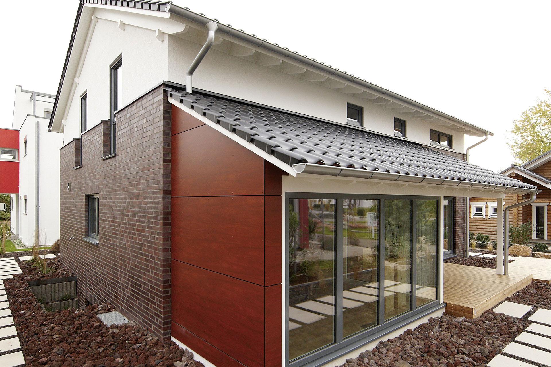 Musterhaus mila mannheim ein fertighaus von gussek haus for Musterhaus flachdach