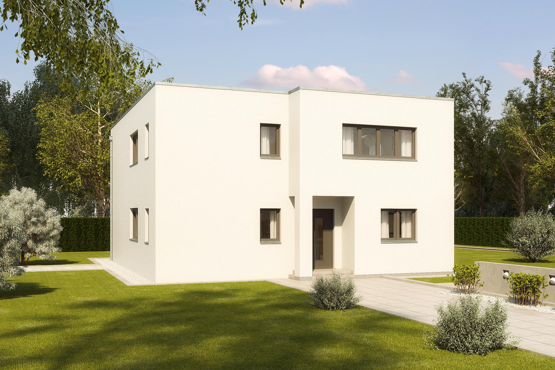 Stadthaus Ostia Flachdachhaus Mit Kompaktem Grundriss Grosser
