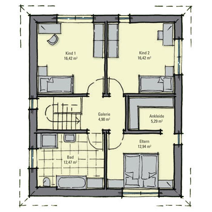 Stadthaus queens kompakter grundriss zwei for Optimaler grundriss einfamilienhaus