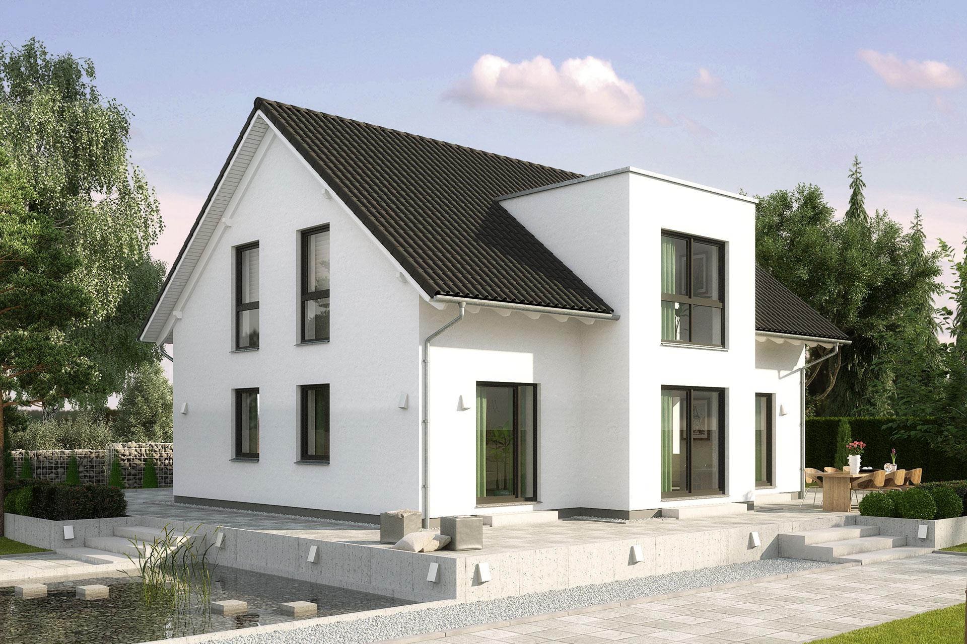 einfamilienhaus guenstig bauen birkenallee eines der 5 meistverkauften modelle gussek haus. Black Bedroom Furniture Sets. Home Design Ideas